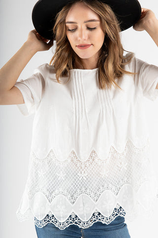 54c88f80488 The Stanley Crochet Detail Blouse in White.   42.00. The Rupert Button  Linen Blouse in Natural
