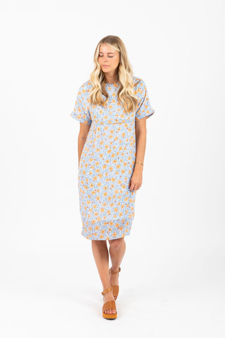 Piper & Scoot: The Paige Paisley Pocket Dress in Cream
