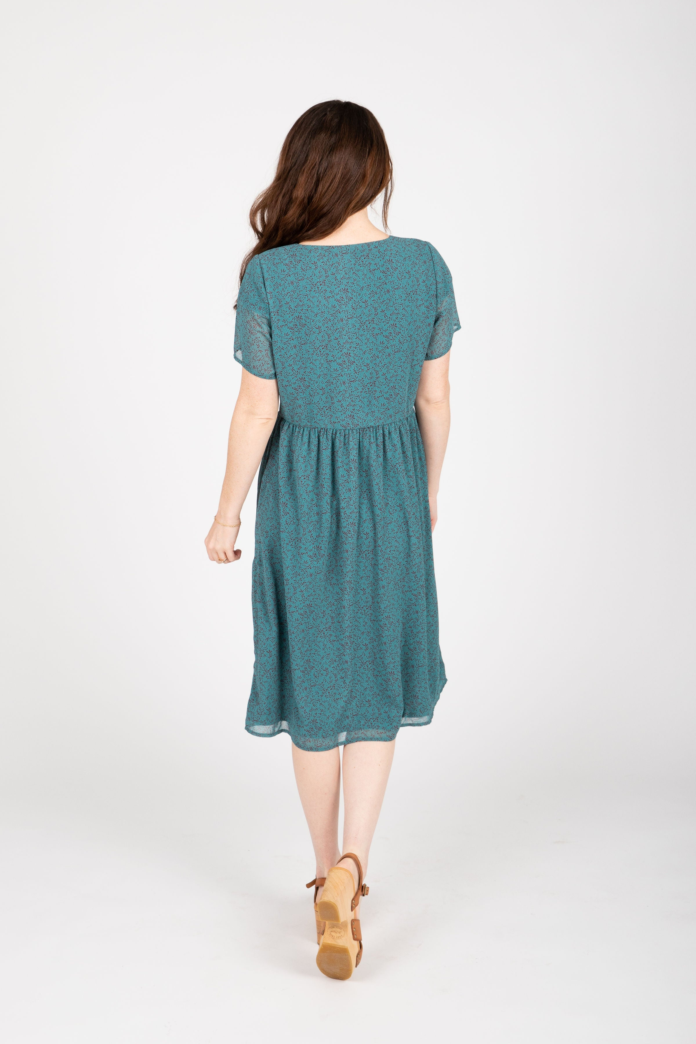 Piper & Scoot: The Standout Pocket Button Dress in Teal