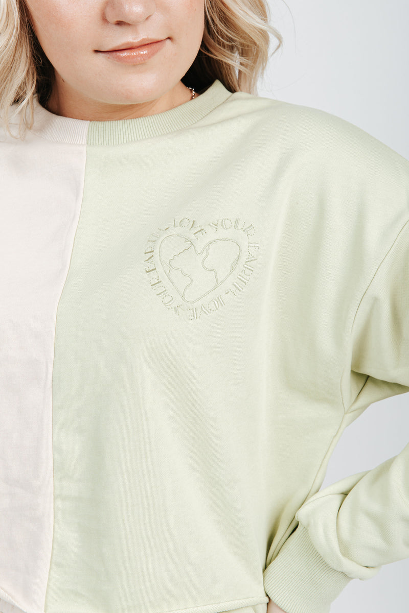 The Love Your Earth Pullover in Avocado