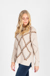 The Beryl Diamond Sweater in Oatmeal