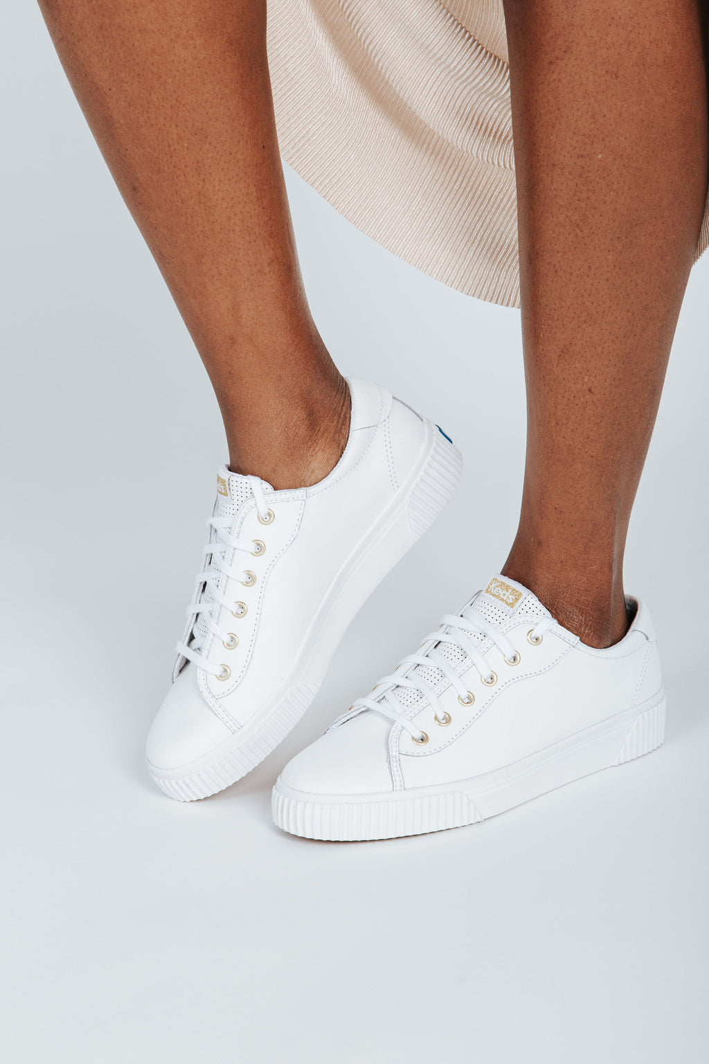 Keds: Women's Crew Kick Alto Leather, studio shoot; side view