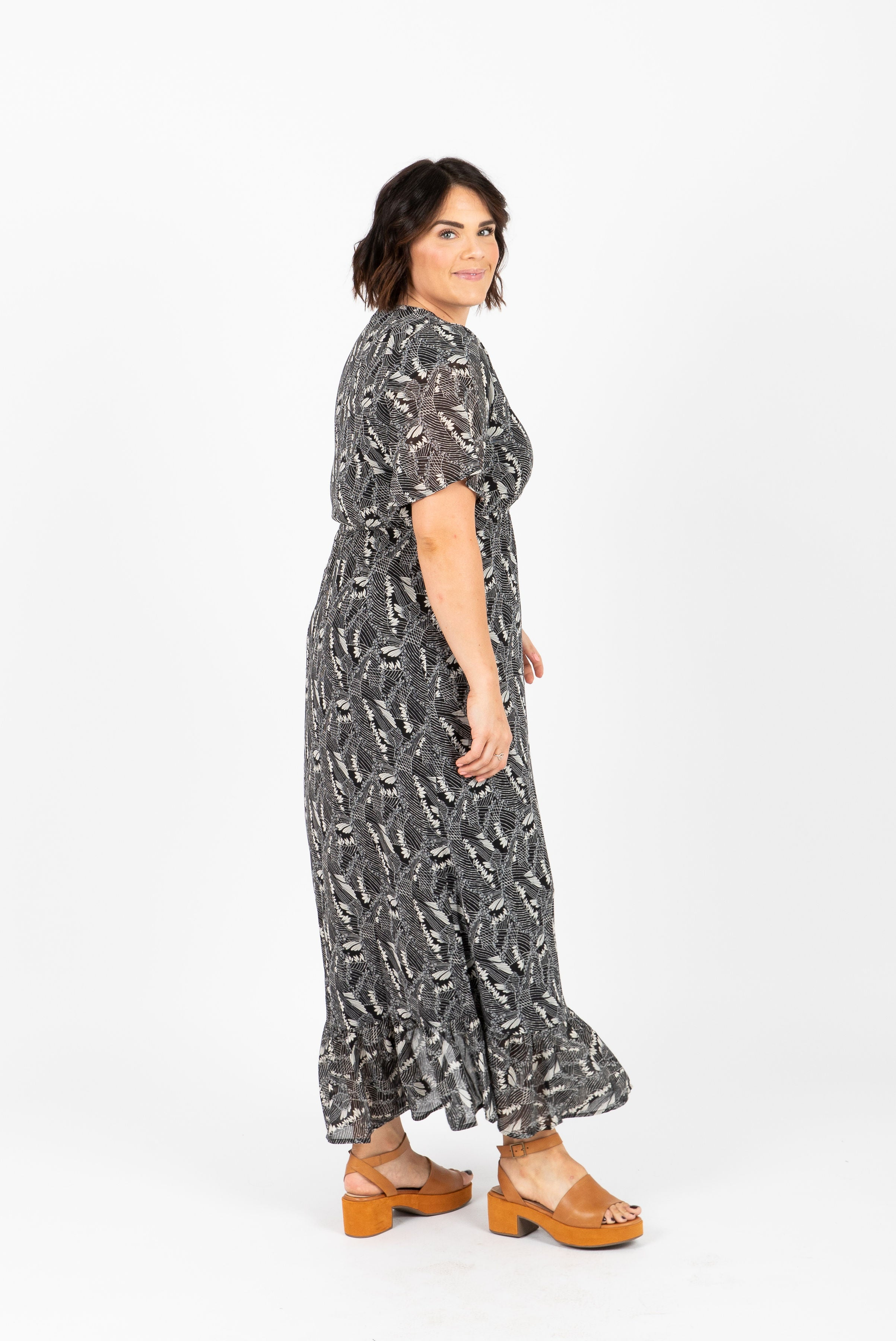 Piper & Scoot: The Crowned Floral Maxi Dress in Black