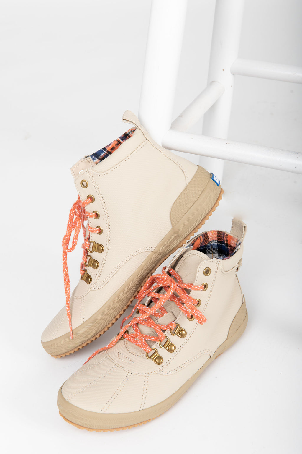 Keds: Scout II Matte Twill Water-Resistant Boot in Taupe