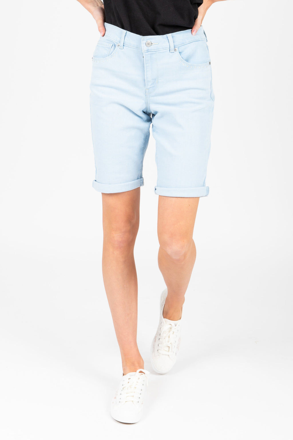 Levi's: Bermuda Short in Light Wash Rivet