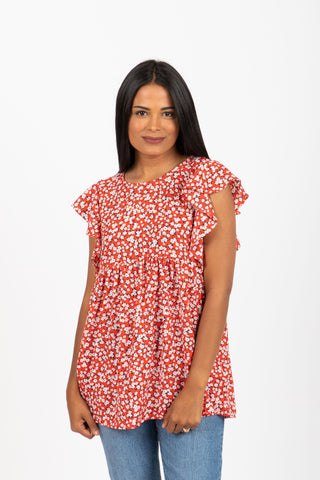 Piper & Scoot: The Like Floral Trim Dress in Cream