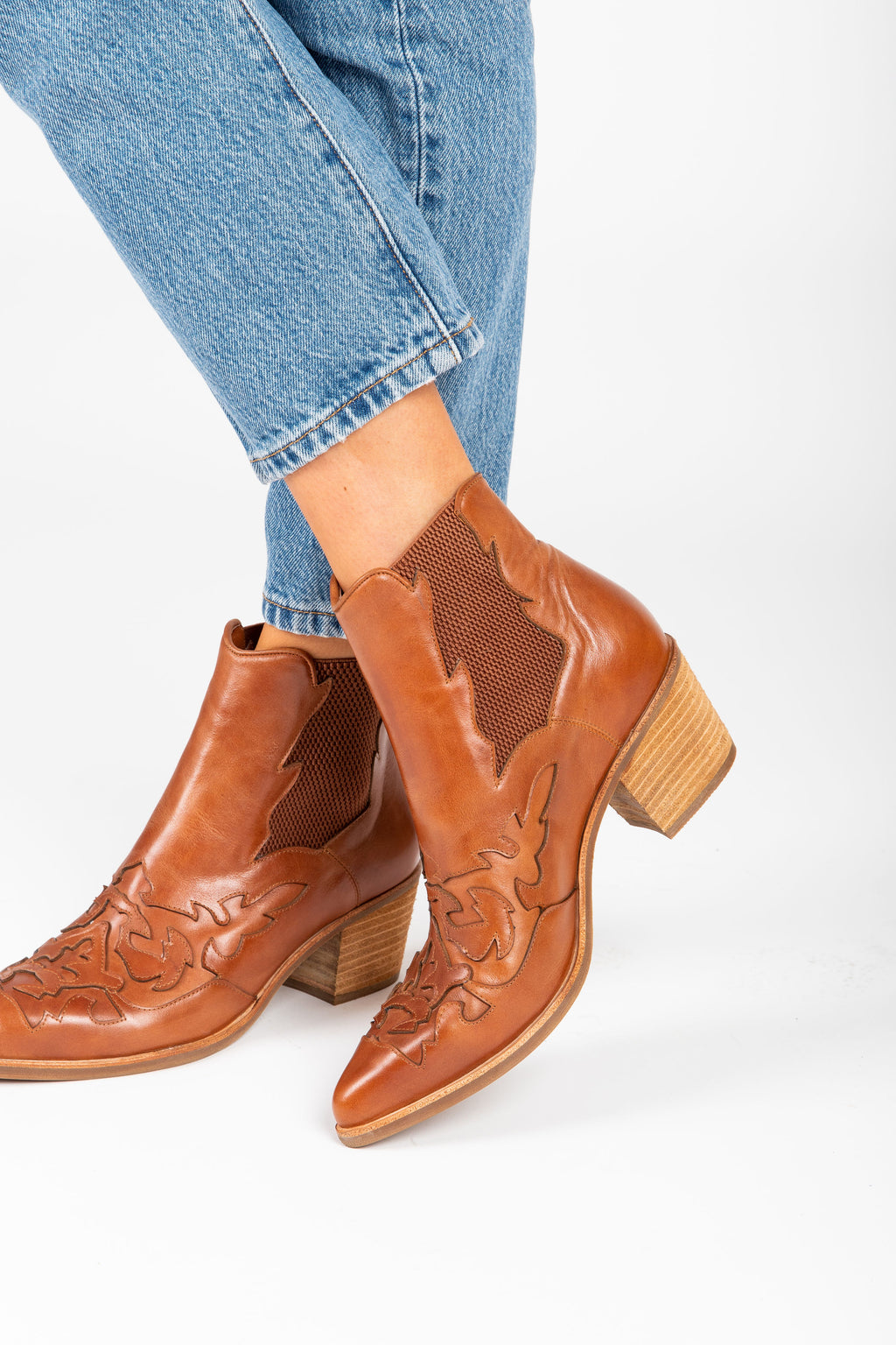Silent D: The Rossie Boot in Cognac Leather