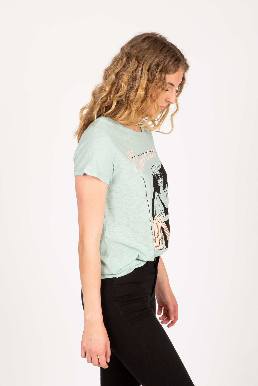 The Monaco Graphic Tee in Sea Salt