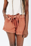 The Hight Drawstring Short in Camel