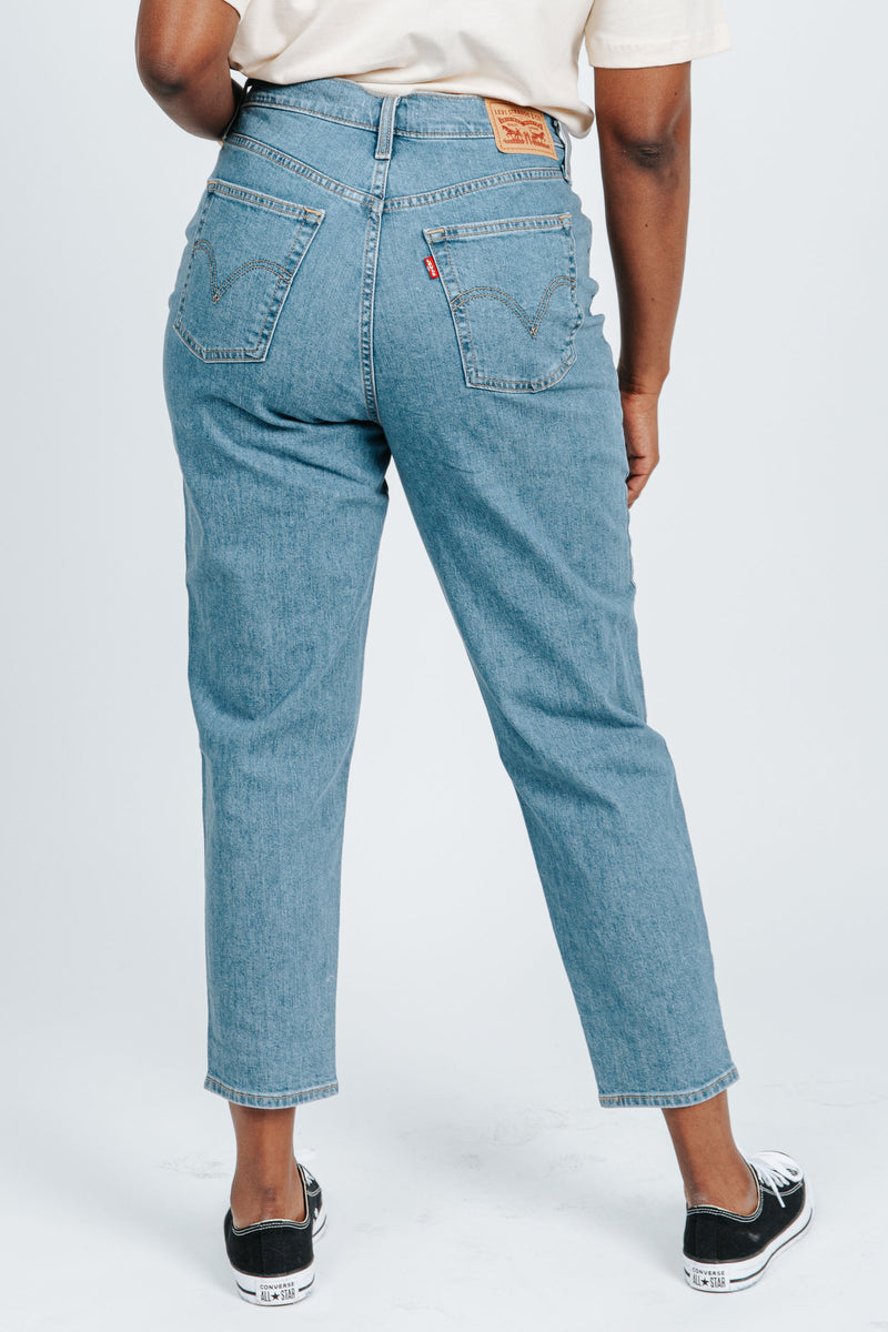 Levi's: High Waisted Mom Jean in FYI Mid Stone Wash