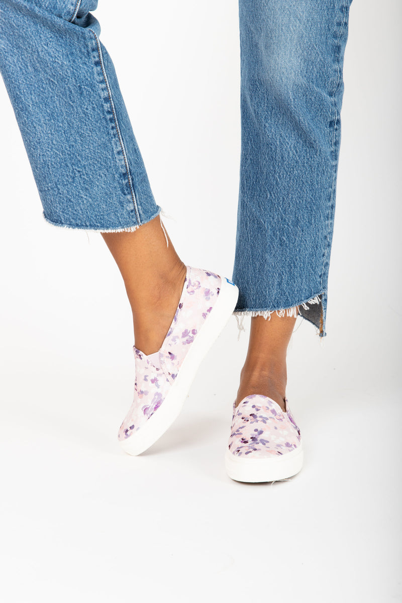 Keds: Double Decker Floral Sneaker in Lt. Lilac
