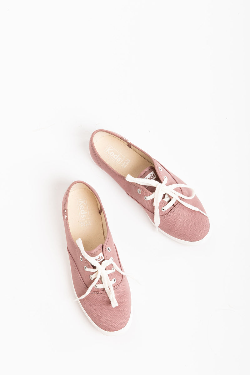Keds: Champion Fall Canvas Sneakers in Mauve