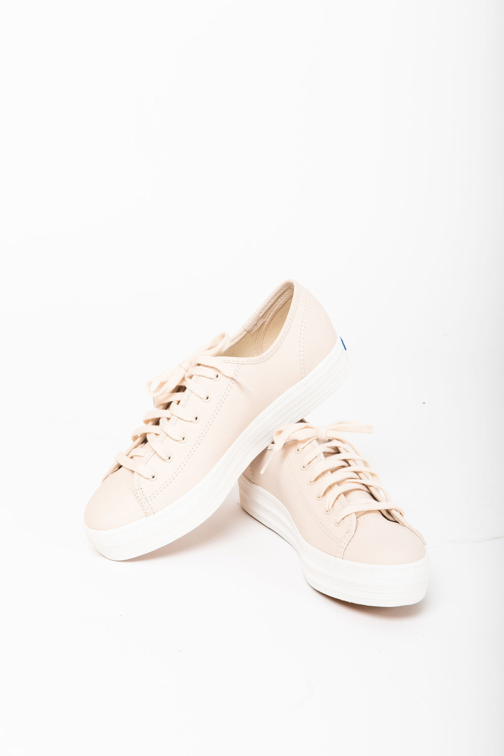 Keds: Triple Kick Leather Sneaker in Blush