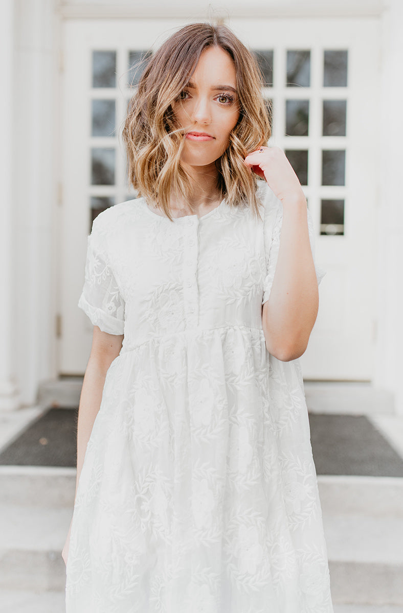 Piper & Scoot: The Ellie Dress in White