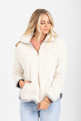 The Alpine Half Zip Sweater in Ivory