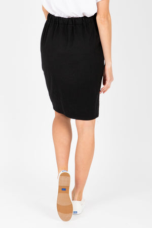 Piper & Scoot: The Mimi Cinch Casual Skirt in Black