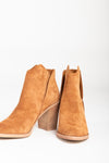 Dolce Vita: The Shep Booties in Brown, studio shoot; front view
