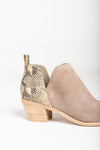 Dolce Vita: The Sonni Booties in Taupe Snake