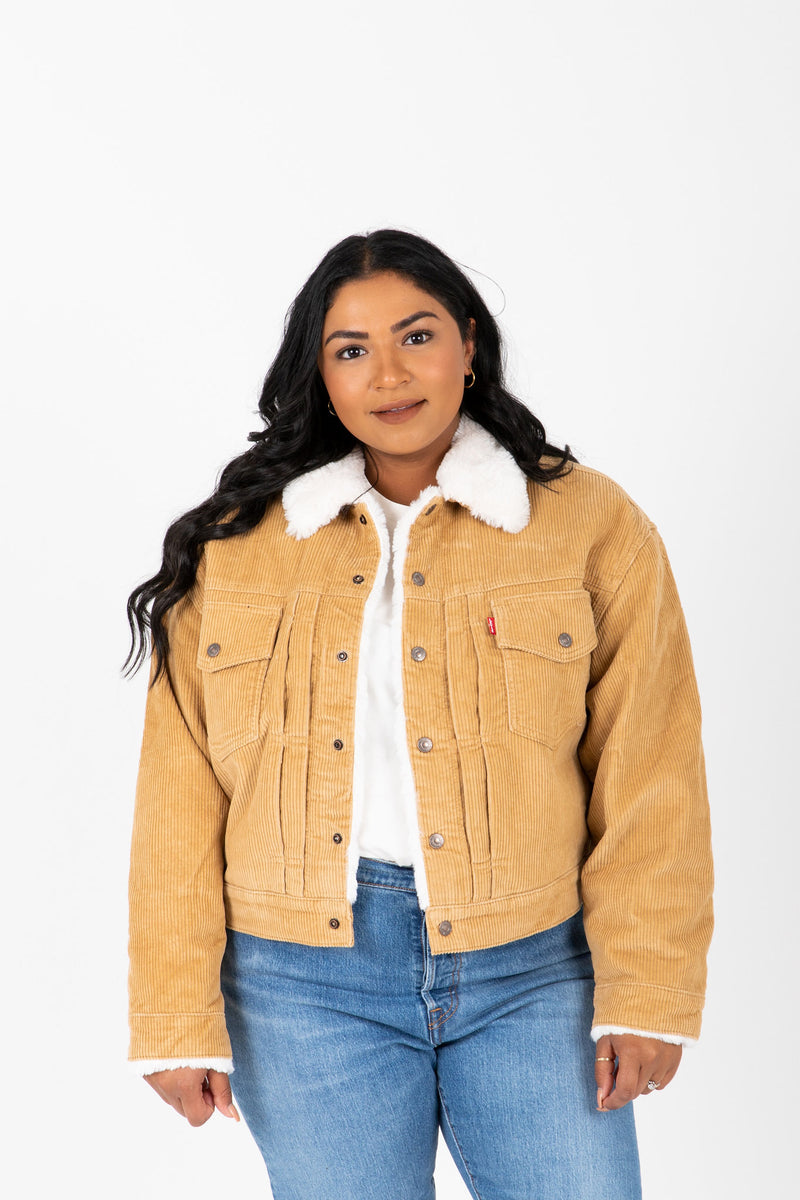 Levi's: Heritage Corduroy Trucker Jacket in Iced Coffee