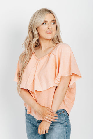The Rogers Textured Blouse in Natural