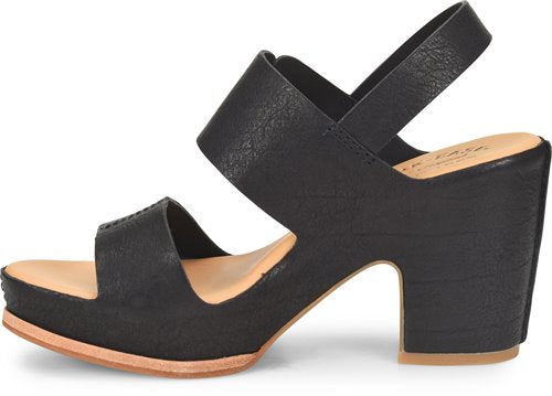 Kork-Ease: San Carlos Sandal in Black, studio shoot; side view