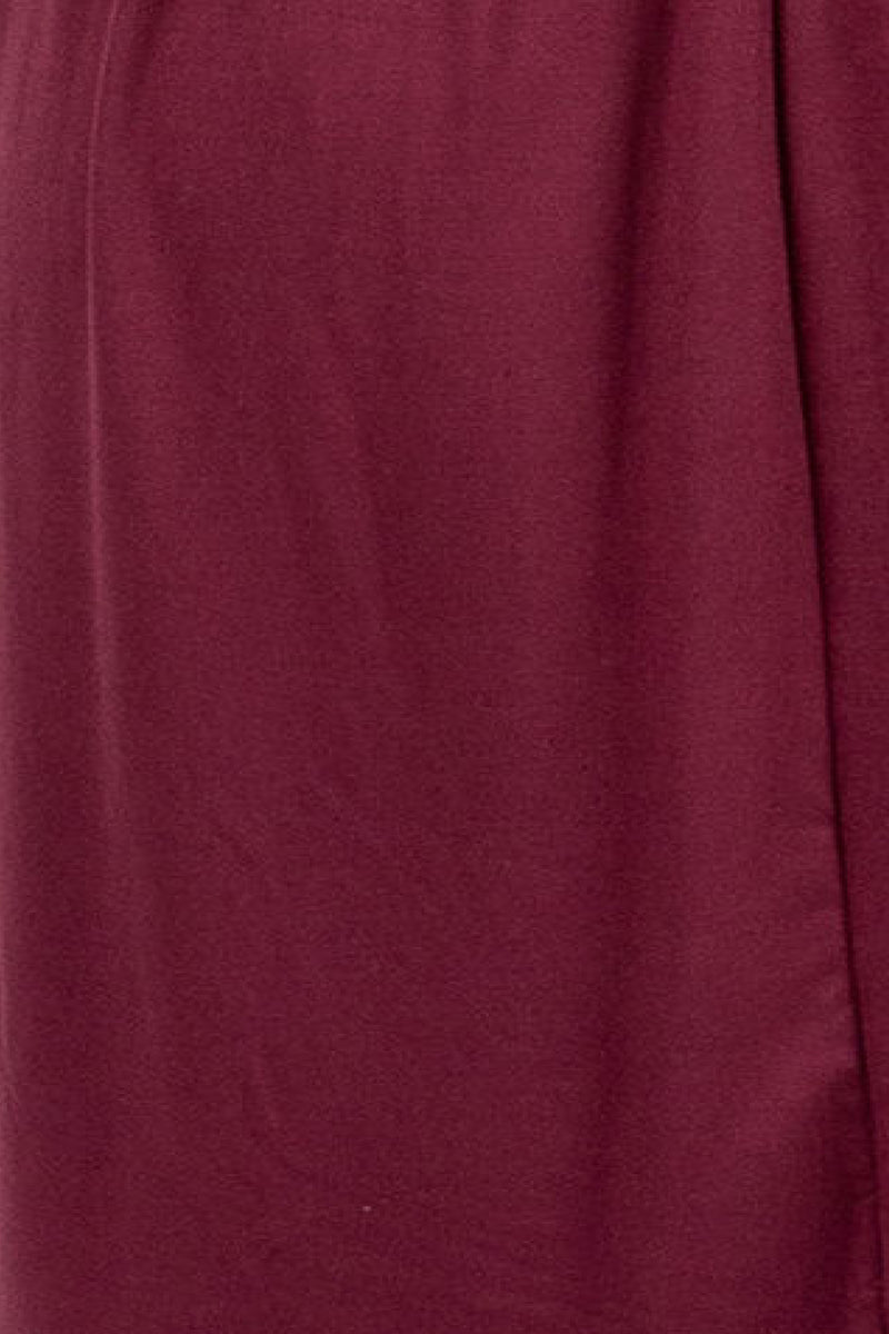 The Madeleine Casual Empire Dress in Plum