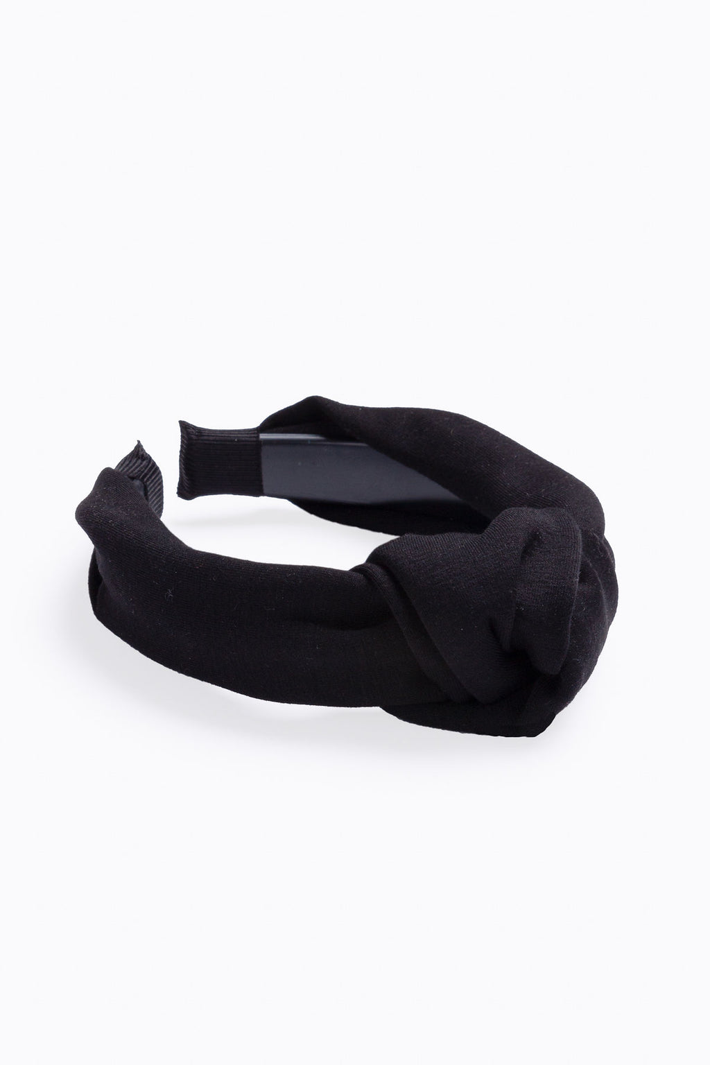 Solid Knot Headband in Black