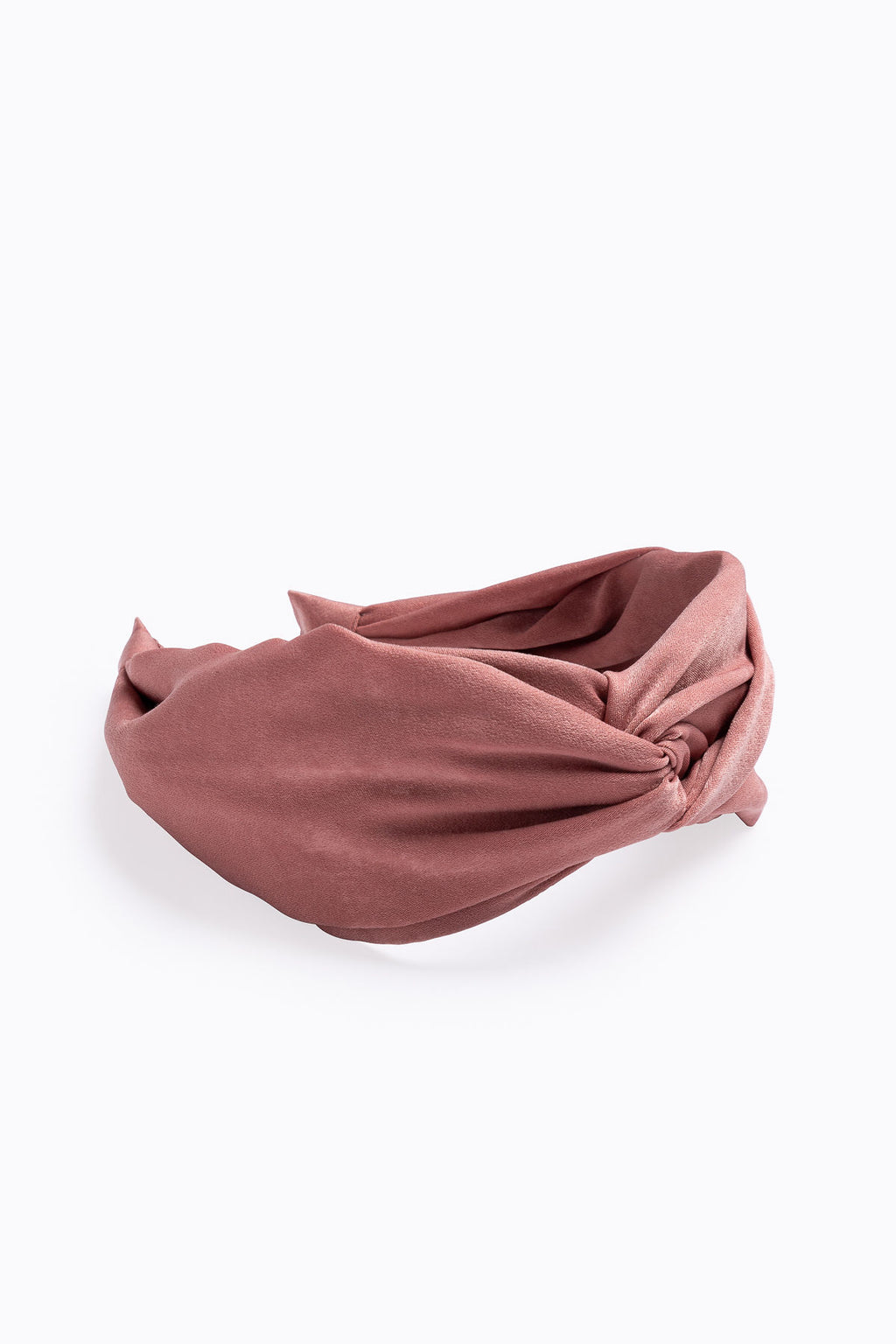 Velvet Fabric Twist Headband in Peach