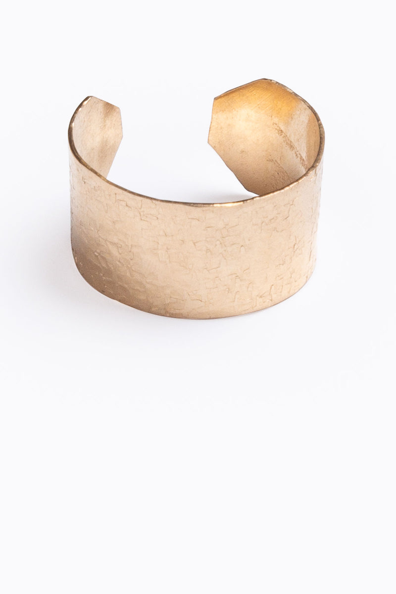Nashelle: Mini Wander Cuff Ring, 14K Gold