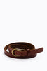 Outback Skinny Leather Belt in Tan