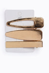 Brown Smooth Rectangle Hair Clip