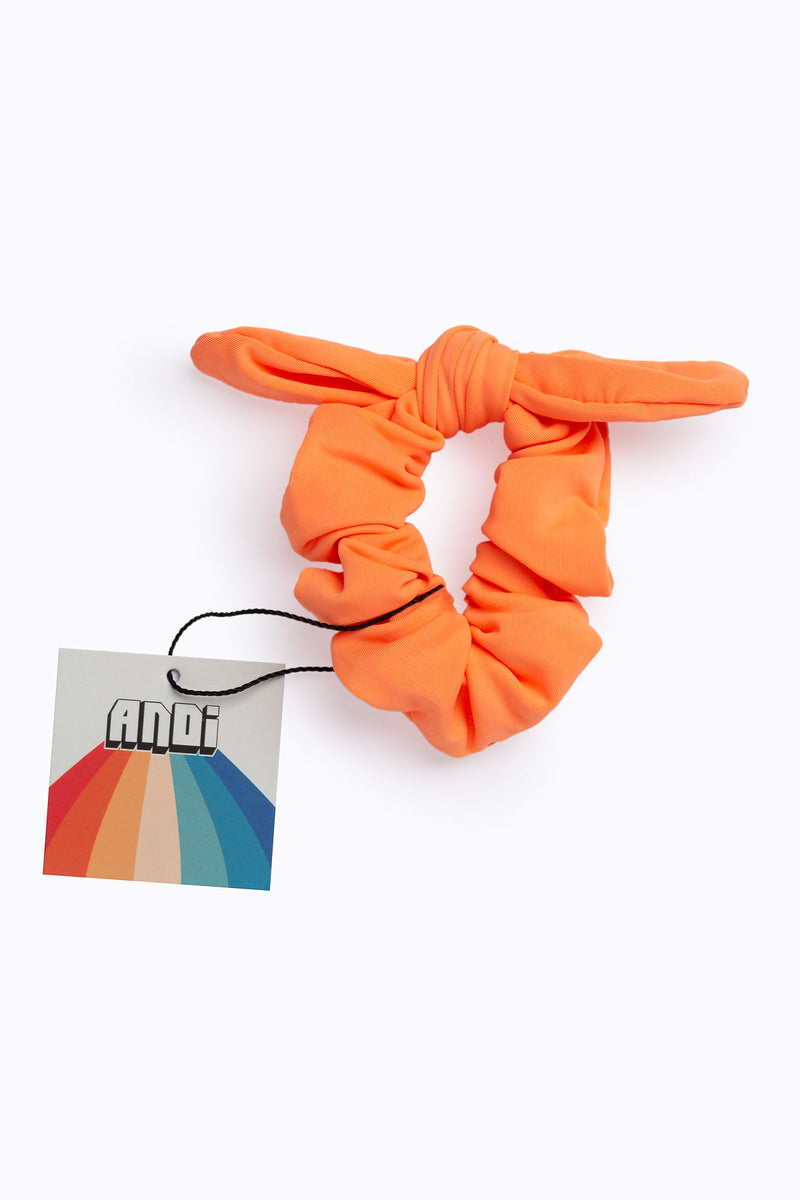 Tangerine Athletic Scrunchie