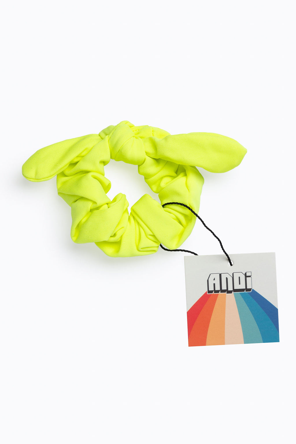 Electric Yellow Athletic Scrunchie