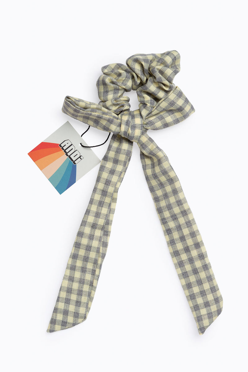 Flannel Long Bow Scrunchie