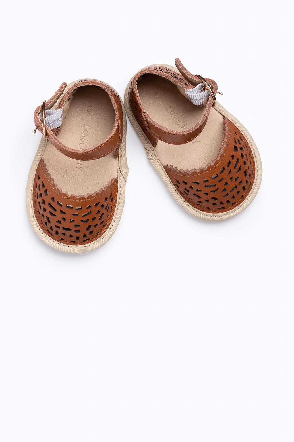 Conciously Baby: Soft Sole Baby Leather Sandal in Phuket Brown