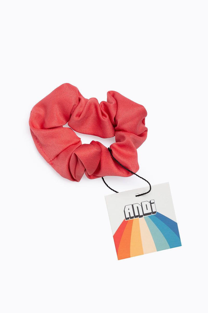 Rouge Pink Cotton Scrunchie