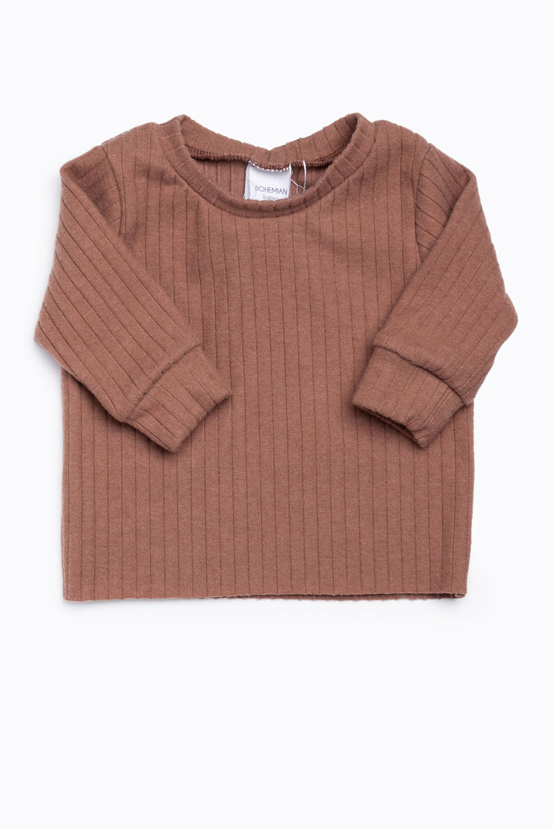 Bohemian Babies: Long Sleeve Tee in Dusty Rose