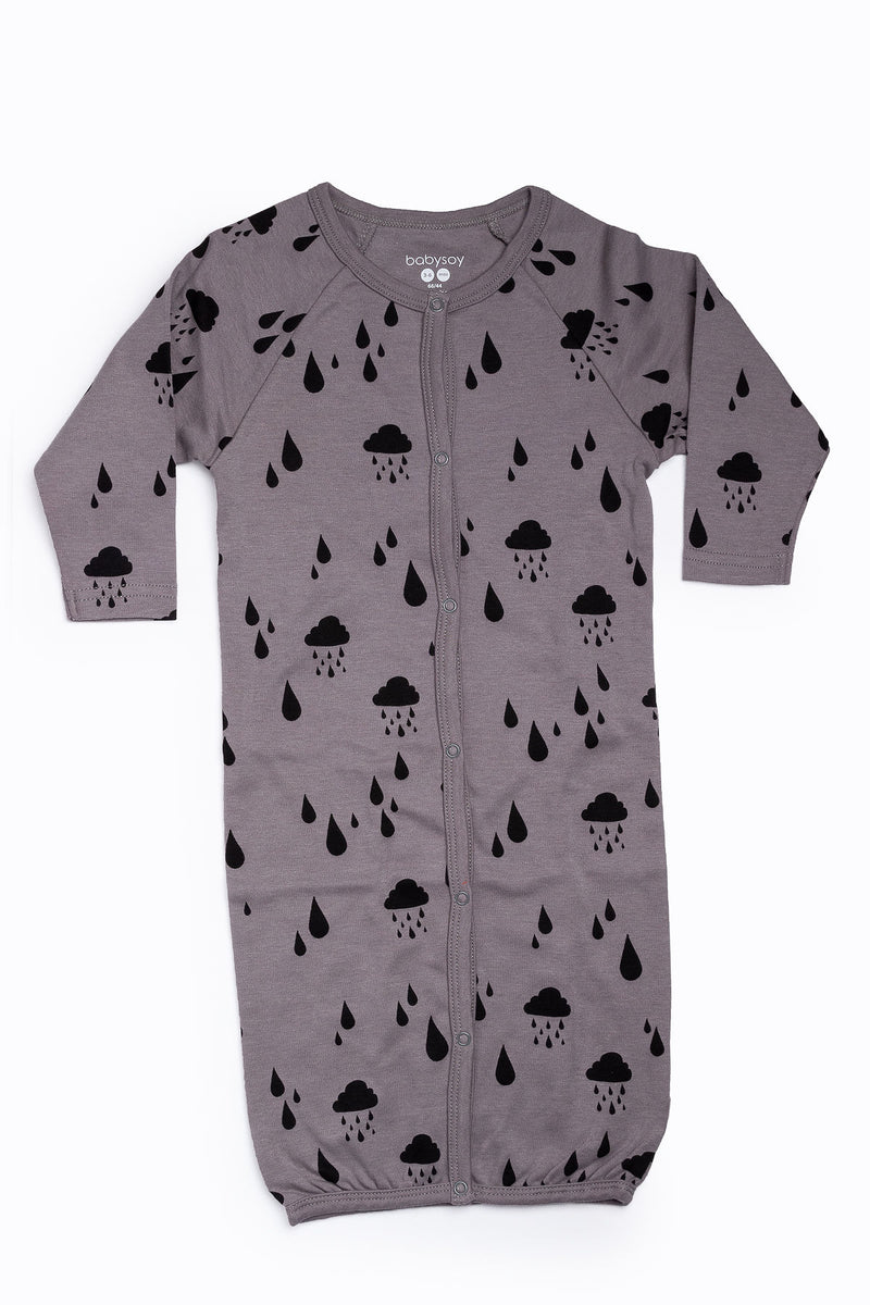 Babysoy: Modern Solid Gown in Rain
