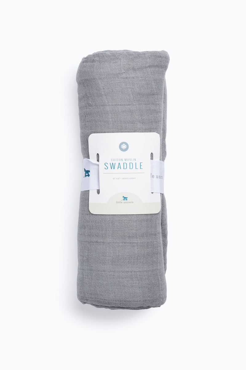 HOME: Little Unicorn Deluxe Muslin Swaddle in Nickel
