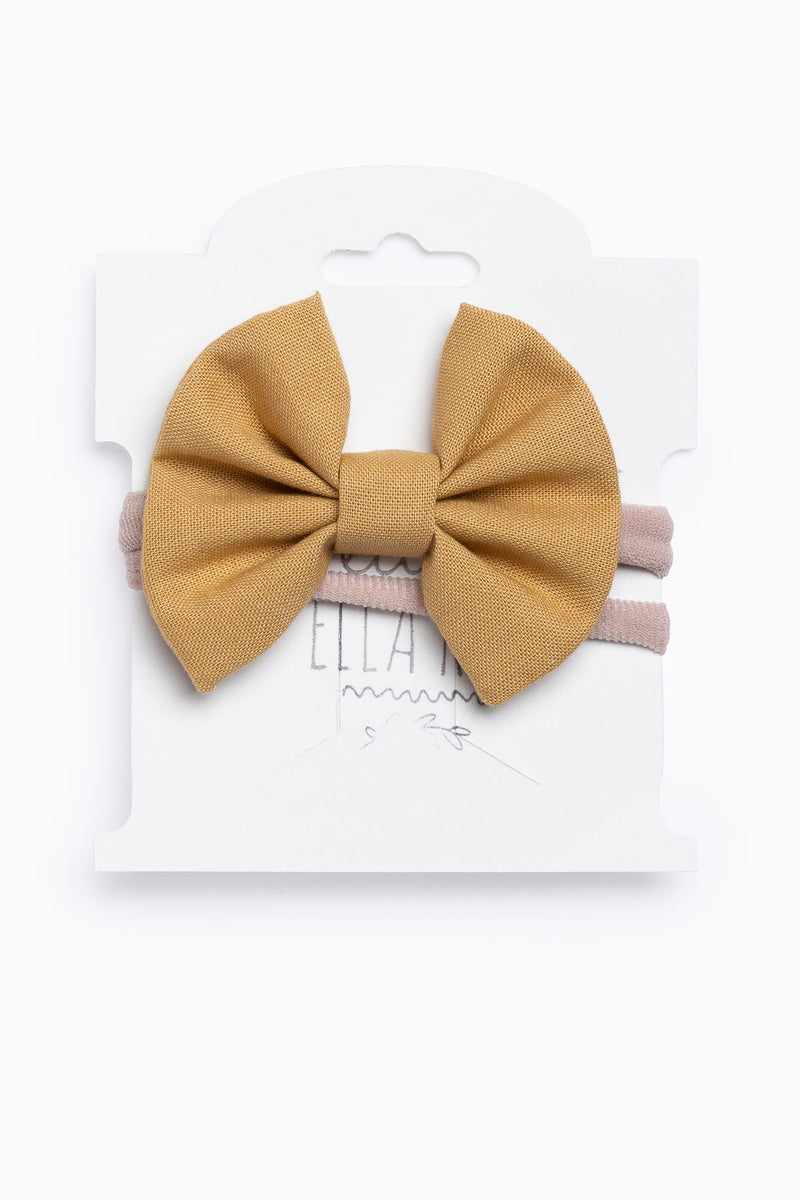 Little Ella Rae: Mini Ella Bow in Honey