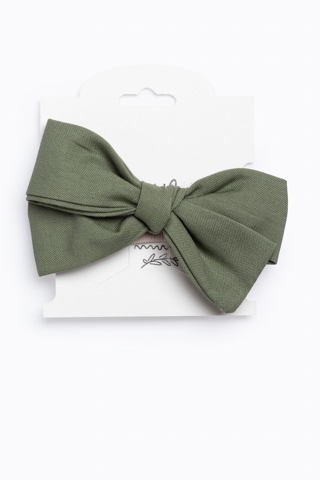 Little Ella Rae: Quincey Bow in Olive