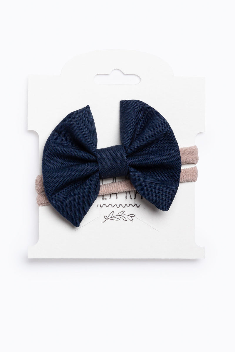 Little Ella Rae: Mini Ella Bow in Navy