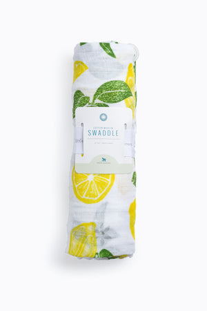 HOME: Little Unicorn Cotton Muslin Swaddle Single in Lemon Drop
