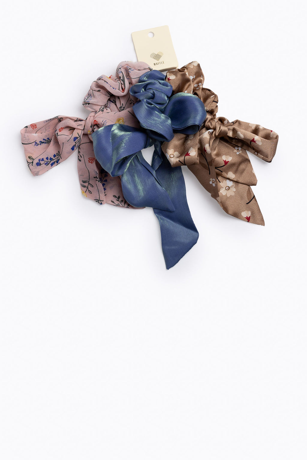 Flower Tail Hair Scrunchies Set
