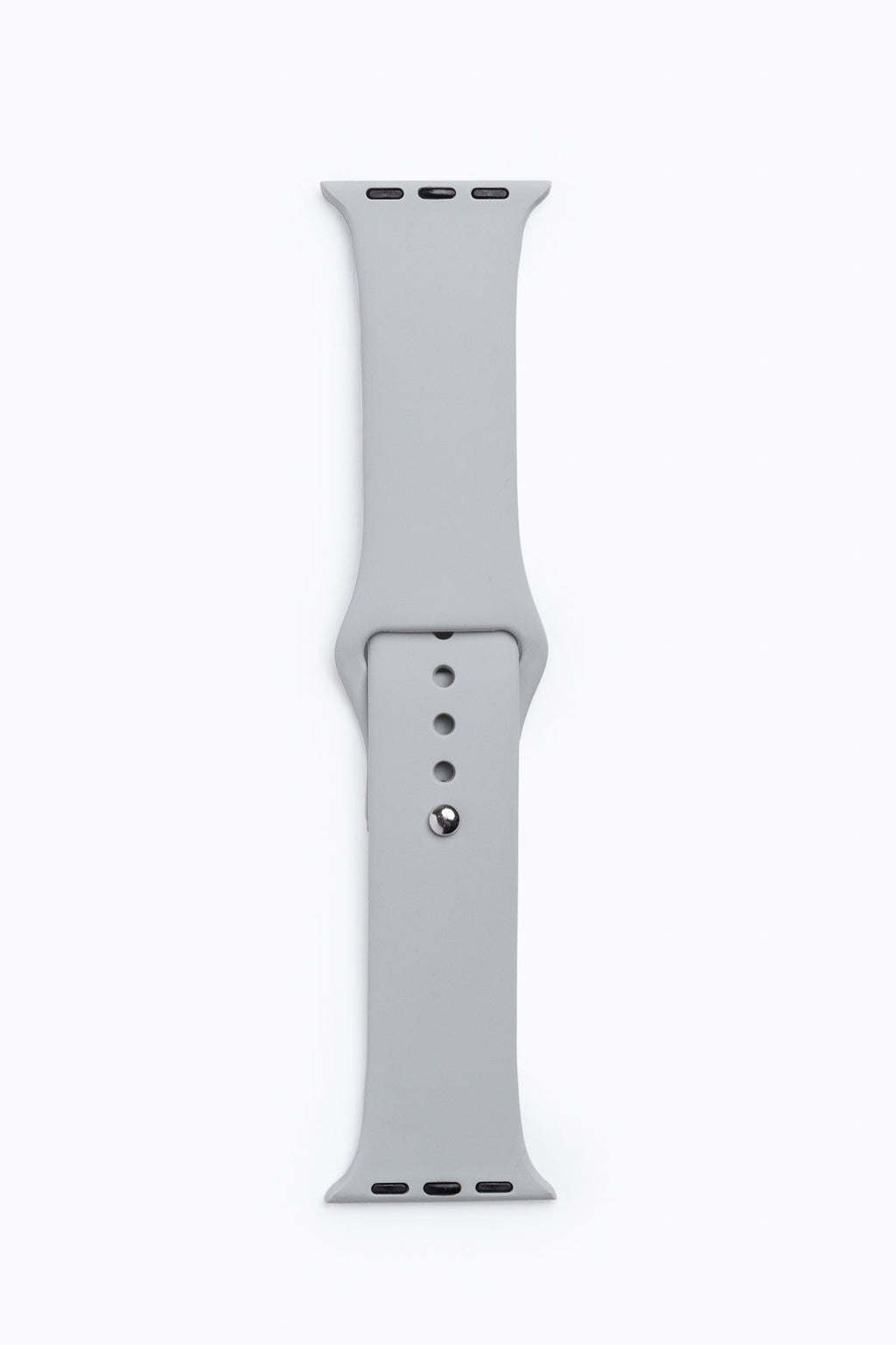 Apple Watch Band in Light Grey Silicone