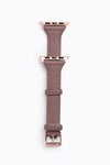 Copper Toned Minimalist Leather Belt in Camel