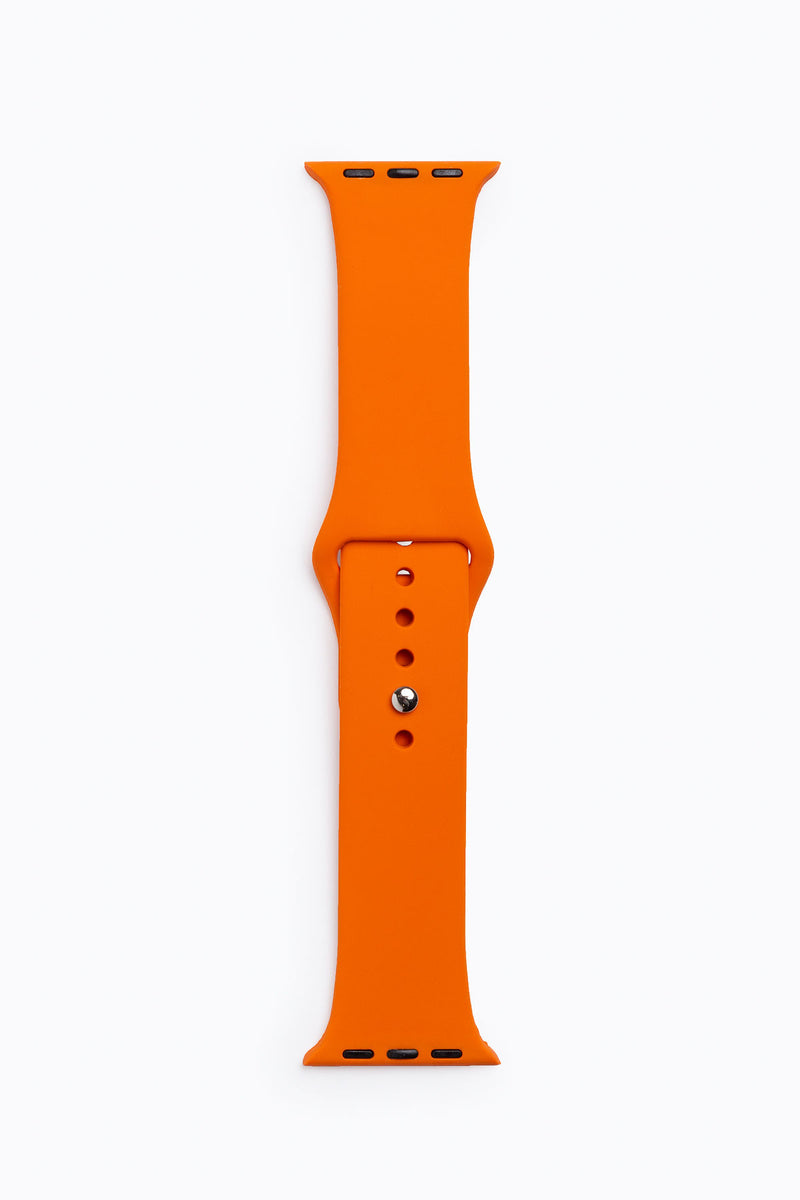 Apple Watch Band in Tangerine Silicone