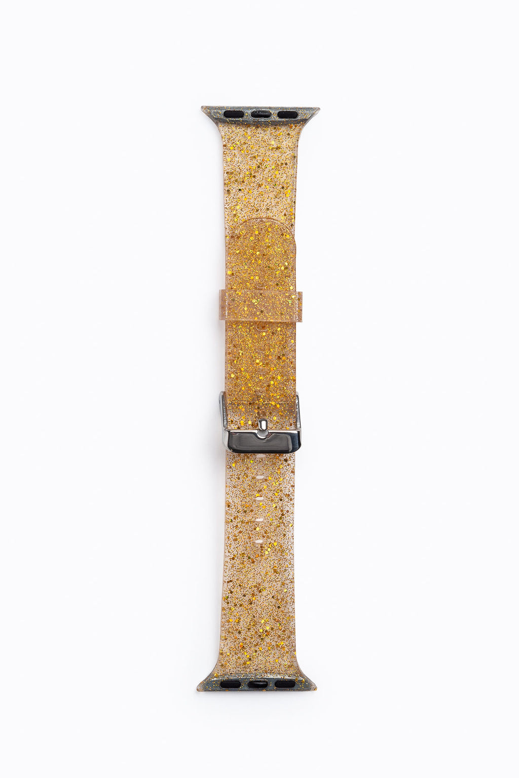 Apple Watch Band in Gold Glitter Silicone