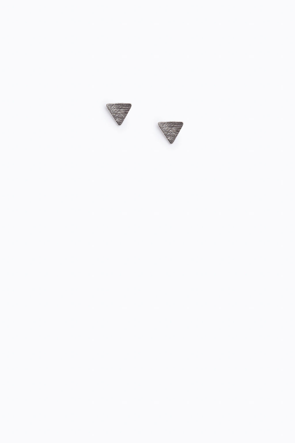 Basic Triangle Stud Earrings in Silver