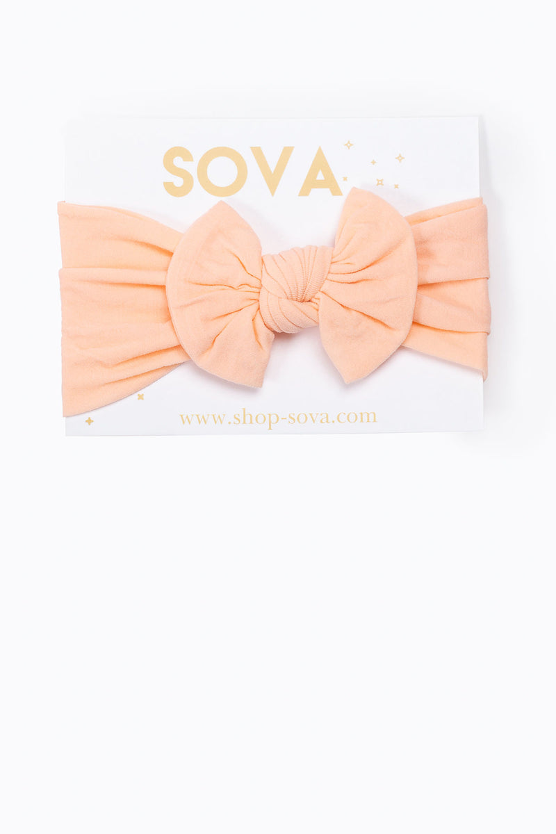 SOVA: Basic Nylon Headband in Peach